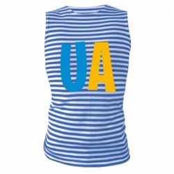 Майка-тельняшка UA Blue and yellow