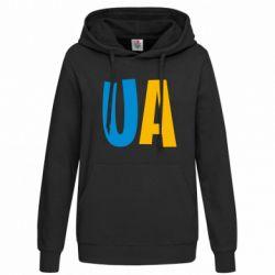 Женская толстовка UA Blue and yellow