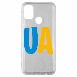 Чехол для Samsung M30s UA Blue and yellow