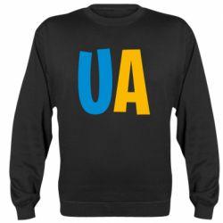 Реглан (свитшот) UA Blue and yellow