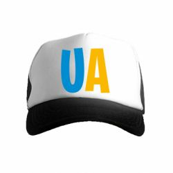 Детская кепка-тракер UA Blue and yellow