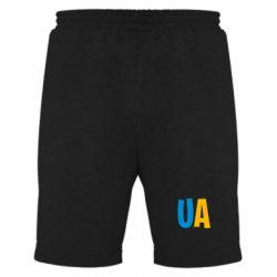 Мужские шорты UA Blue and yellow