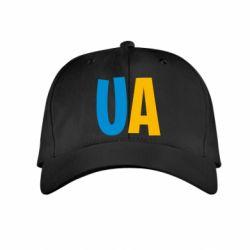 Детская кепка UA Blue and yellow