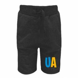 Детские шорты UA Blue and yellow