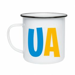 Кружка эмалированная UA Blue and yellow