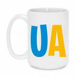 Кружка 420ml UA Blue and yellow