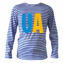 Тельняшка с длинным рукавом UA Blue and yellow