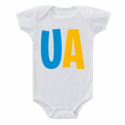 Детский бодик UA Blue and yellow