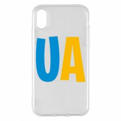 Чехол для iPhone X/Xs UA Blue and yellow