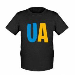 Детская футболка UA Blue and yellow