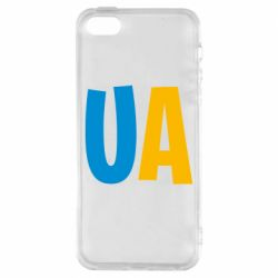 Чехол для iPhone5/5S/SE UA Blue and yellow