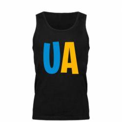 Мужская майка UA Blue and yellow