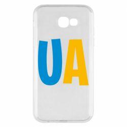 Чехол для Samsung A7 2017 UA Blue and yellow