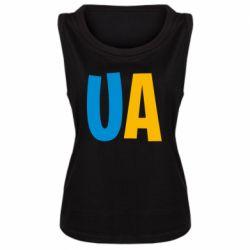 Женская майка UA Blue and yellow