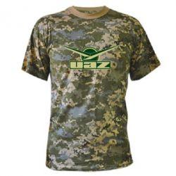 Камуфляжная футболка UAZ Лого - FatLine