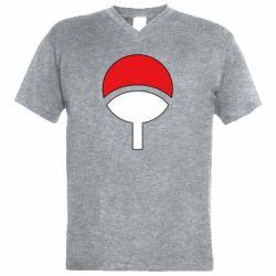 Мужская футболка  с V-образным вырезом Uchiha symbol