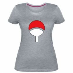 Женская стрейчевая футболка Uchiha symbol