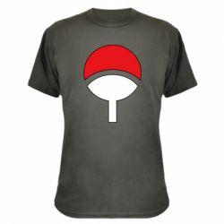 Камуфляжная футболка Uchiha symbol
