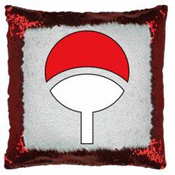 Подушка-хамелеон Uchiha symbol