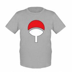 Детская футболка Uchiha symbol