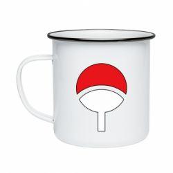 Кружка эмалированная Uchiha symbol