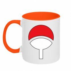 Кружка двухцветная 320ml Uchiha symbol