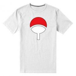 Мужская стрейчевая футболка Uchiha symbol