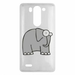 Чехол для LG G3 mini/G3s удивленный слон - FatLine