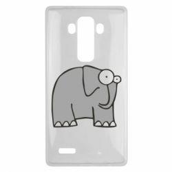 Чехол для LG G4 удивленный слон - FatLine