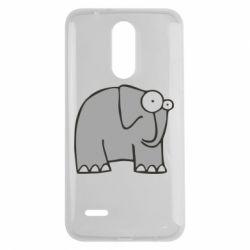 Чехол для LG K7 2017 удивленный слон - FatLine