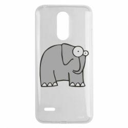 Чехол для LG K8 2017 удивленный слон - FatLine