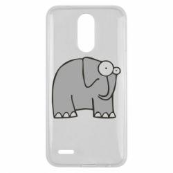 Чехол для LG K10 2017 удивленный слон - FatLine