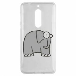 Чехол для Nokia 5 удивленный слон - FatLine
