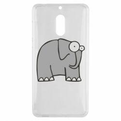 Чехол для Nokia 6 удивленный слон - FatLine