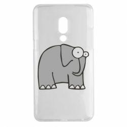 Чехол для Meizu 15 Plus удивленный слон - FatLine