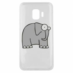Чехол для Samsung J2 Core удивленный слон - FatLine