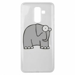 Чехол для Samsung J8 2018 удивленный слон - FatLine