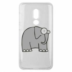 Чехол для Meizu V8 удивленный слон - FatLine
