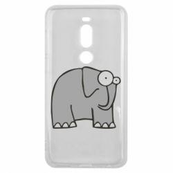 Чехол для Meizu V8 Pro удивленный слон - FatLine