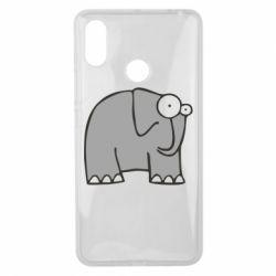 Чехол для Xiaomi Mi Max 3 удивленный слон - FatLine