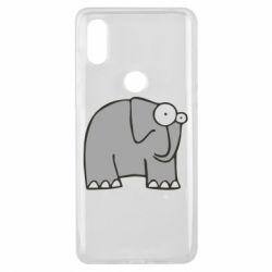 Чехол для Xiaomi Mi Mix 3 удивленный слон - FatLine