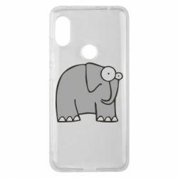 Чехол для Xiaomi Redmi Note 6 Pro удивленный слон - FatLine