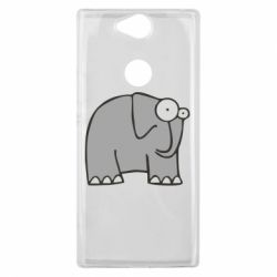 Чехол для Sony Xperia XA2 Plus удивленный слон - FatLine