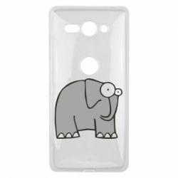 Чехол для Sony Xperia XZ2 Compact удивленный слон - FatLine
