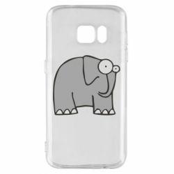 Чехол для Samsung S7 удивленный слон - FatLine