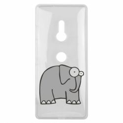 Чехол для Sony Xperia XZ3 удивленный слон - FatLine