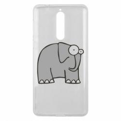 Чехол для Nokia 8 удивленный слон - FatLine