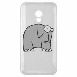 Чехол для Meizu 15 Lite удивленный слон - FatLine