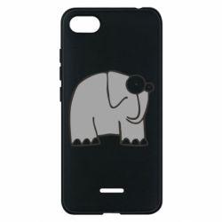 Чехол для Xiaomi Redmi 6A удивленный слон - FatLine