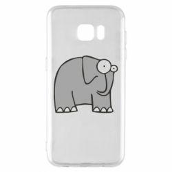 Чехол для Samsung S7 EDGE удивленный слон - FatLine